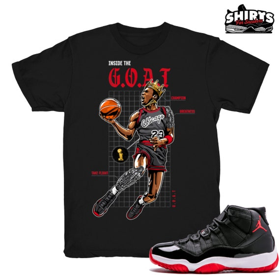Air Jordan 11 Bred shirt Bred XI Goat
