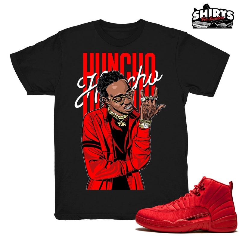 15601d4443df6a Air Jordan 12 Gym Red shirt Huncho Retro 12 Gym Red 2018