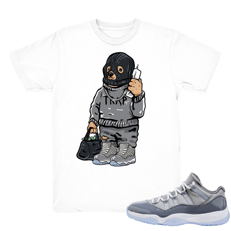 6ca10c74abfdcb Air Jordan 11 Cool Grey low shirt Trap Bear Retro 11 low
