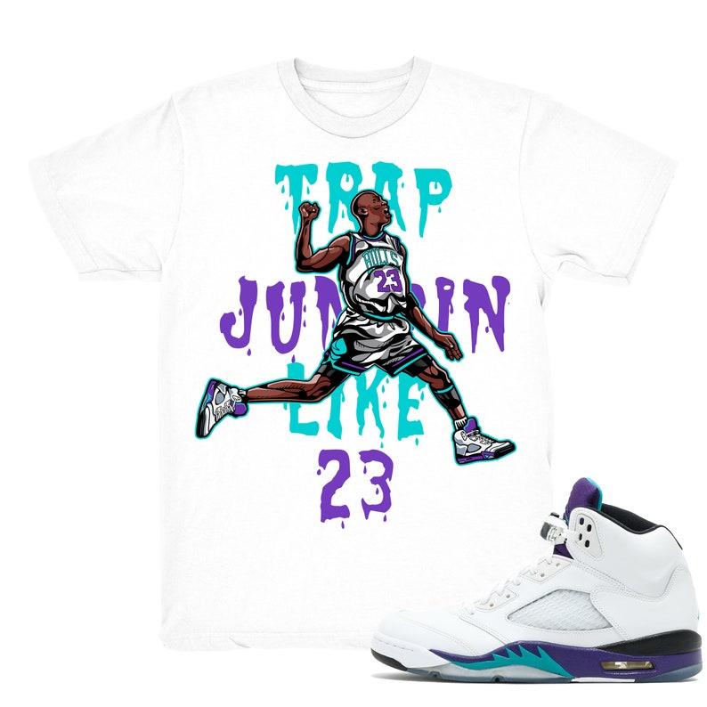 f7d943fec0e4da Air Jordan 5 Grape shirt Trap Jumpin  Retro 5 Fresh