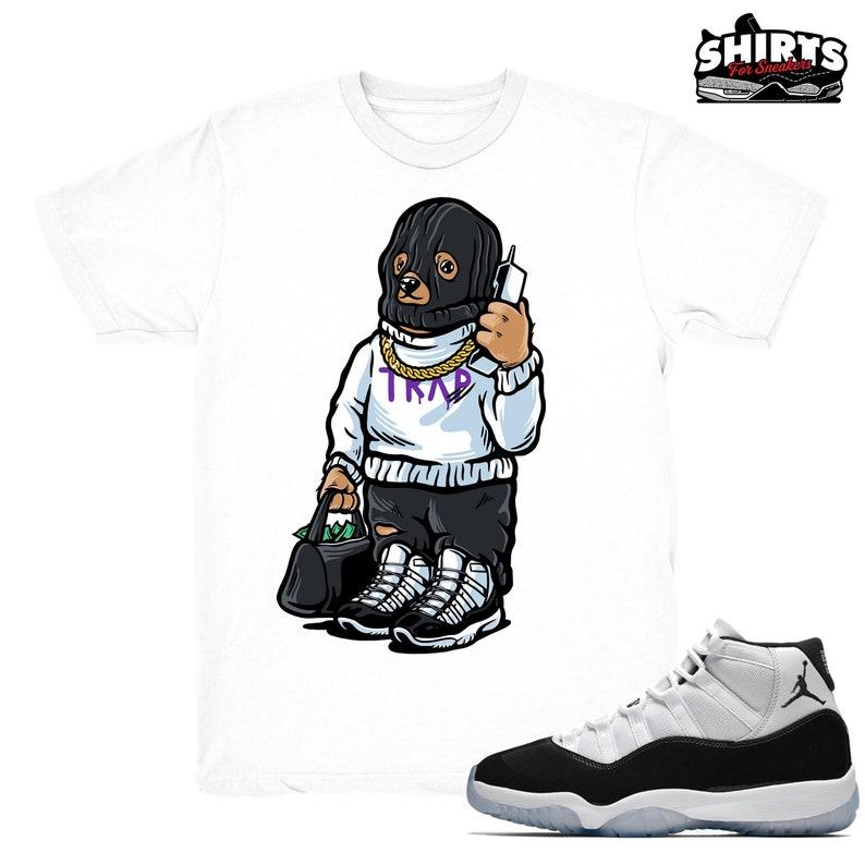 in stock 233e5 23929 Air Jordan 11 Concord shirt | Trap Bear - Retro 11 Concord 2018 / White tee  shirts