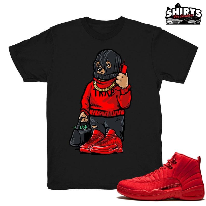 adab9e6e333d7a Air Jordan 12 Gym Red shirt Trap Bear Retro 12 Gym Red