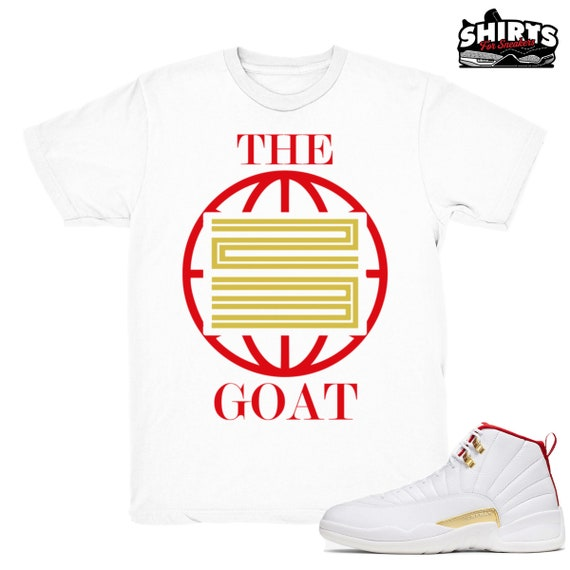 Air Jordan 12 Fiba Shirt The Goat 23 Retro 12 Fiba Xii Etsy