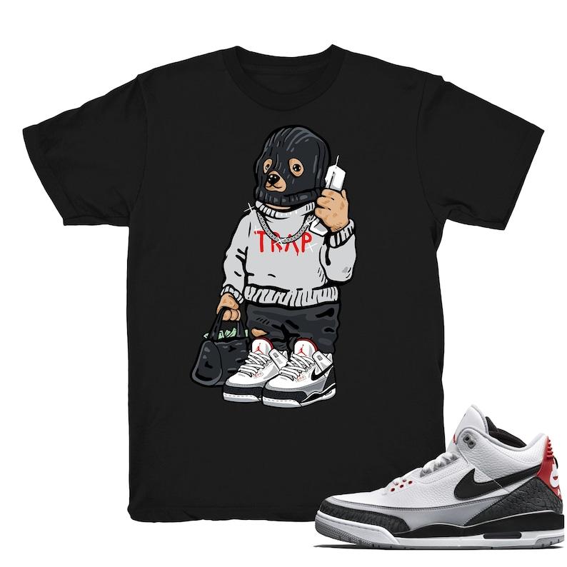 super popular 6565d d8298 Air Jordan 3 Tinker shirt Trap Bear Retro 3 Tinker   Etsy