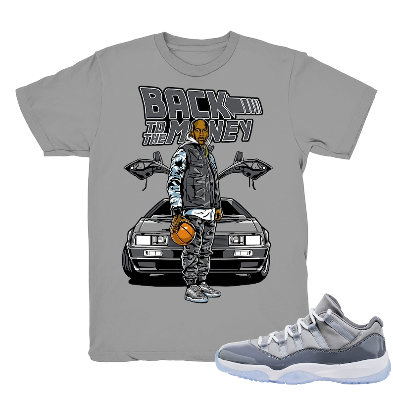 d80514f079a977 Air Jordan 11 Cool Grey low shirt To the Money Retro 11