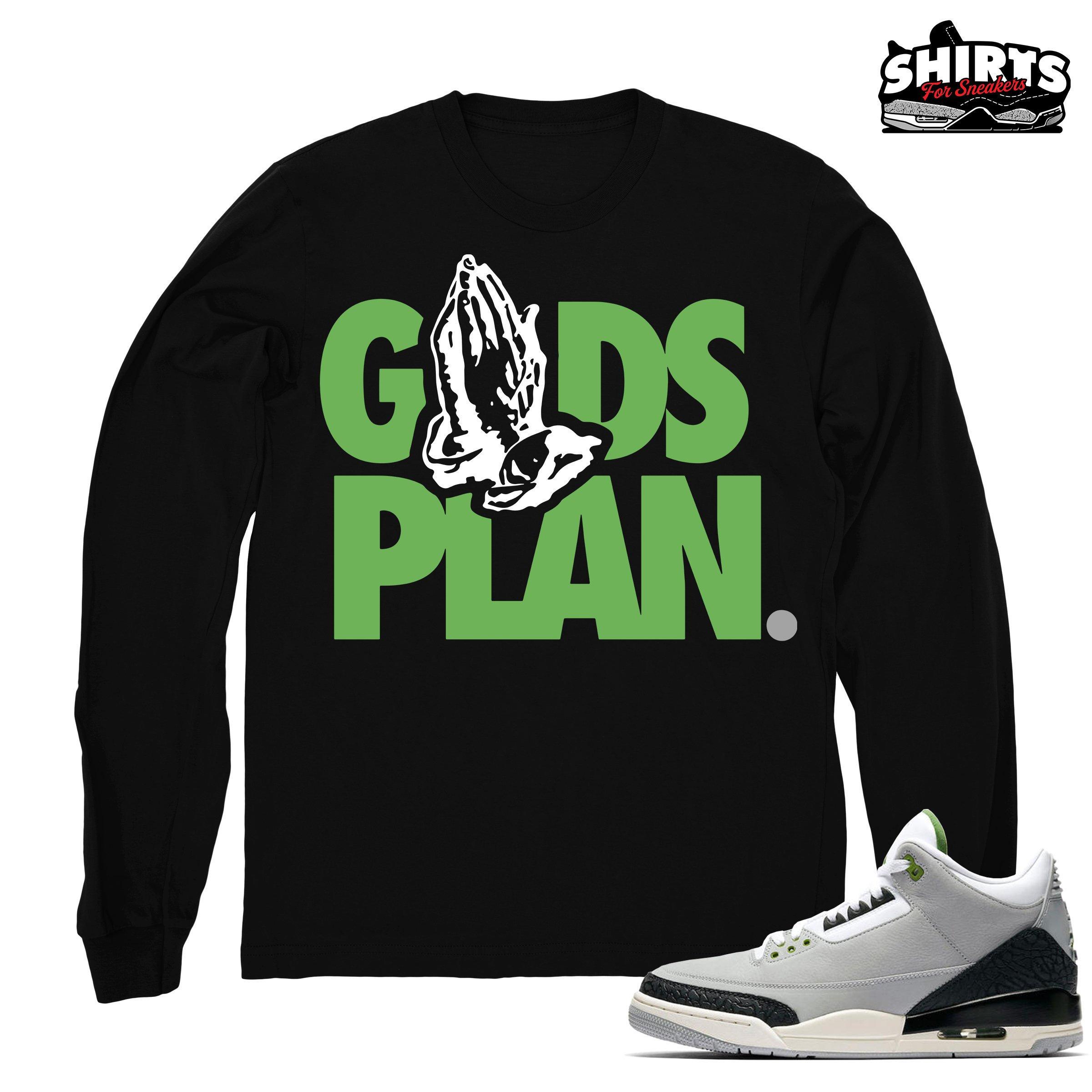 4d85610f8827 Air Jordan 3 Chlorophyll shirt Drake Gods Plan Retro 3