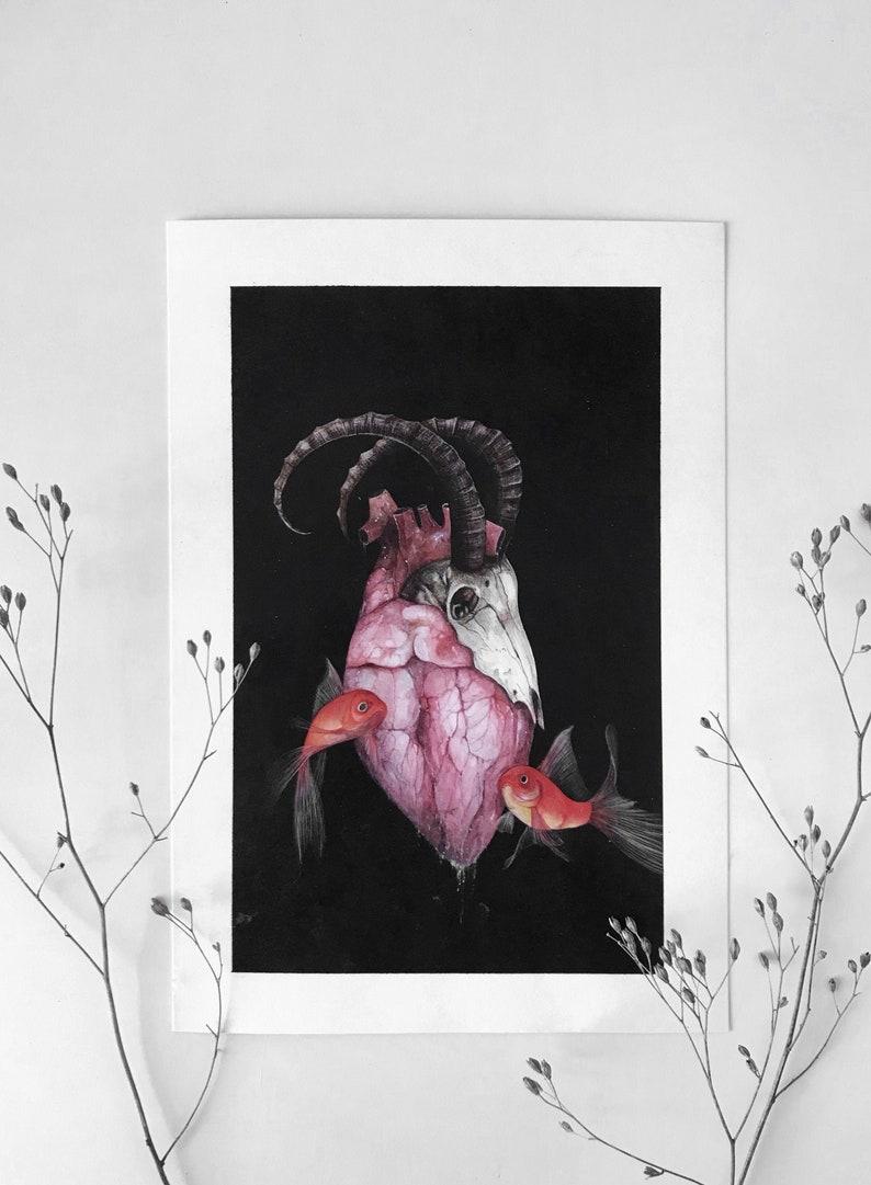 Capricorno/ Ascendente Pesci  Limited edition prints image 0