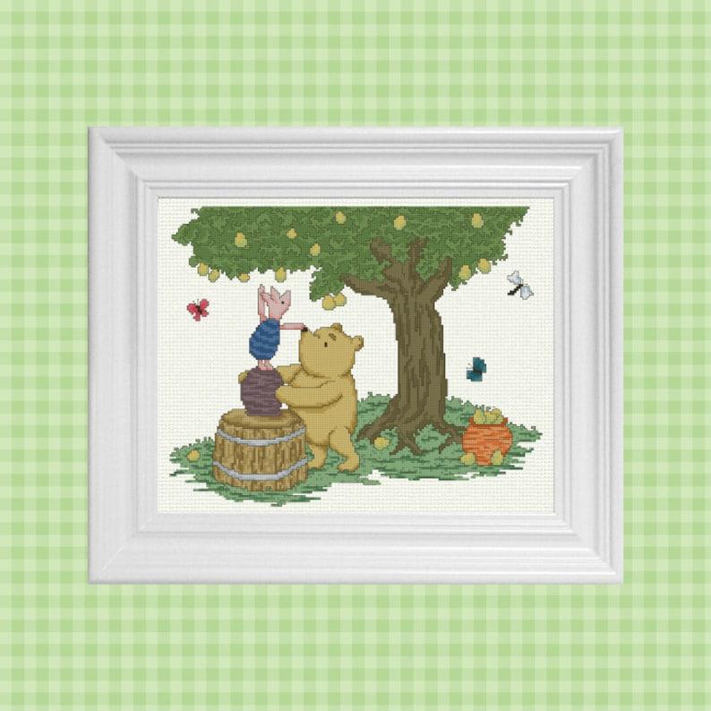 A Helping Hand  Classic Winnie the Pooh Cross Stitch Pattern image 0