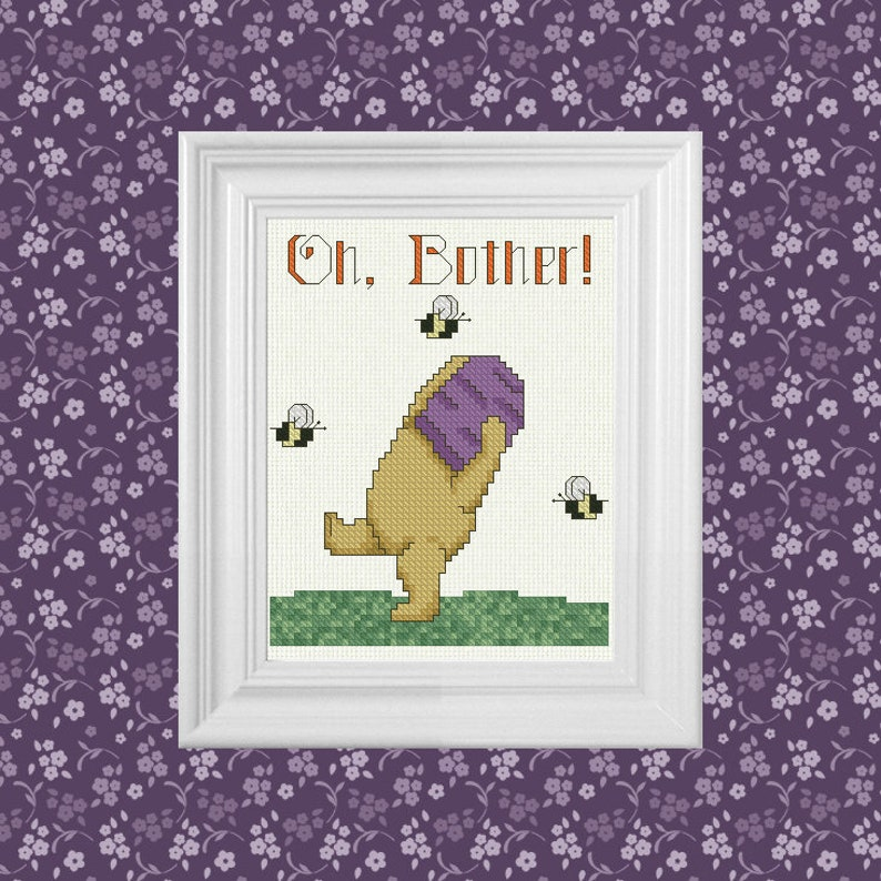 Oh Bother  Classic Winnie the Pooh Cross Stitch Pattern  image 0