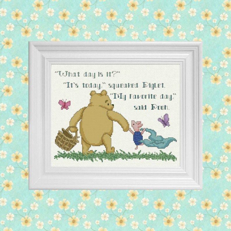 My Favorite Day  Classic Winnie the Pooh Cross Stitch Pattern image 0