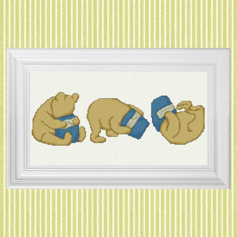Hunny Tumble  Classic Winnie the Pooh Cross Stitch Pattern  image 0