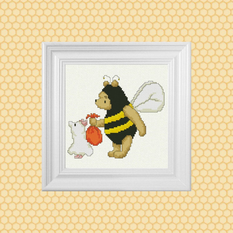 Trick or Treat Classic Winnie the Pooh Cross Stitch Pattern  image 0