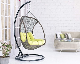 Cool Swing Chair With Stand Hanging Hammock Chair With Stand Etsy Short Links Chair Design For Home Short Linksinfo