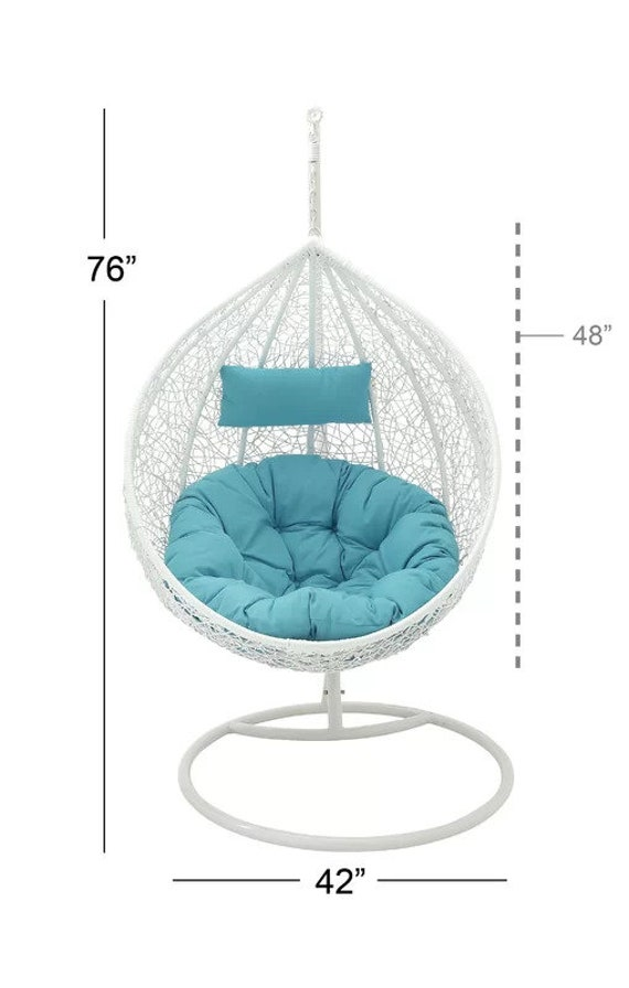 Admirable Swing Chair With Stand Hanging Hammock Chair With Stand White Balcony Swing Outdoor Indoor Porch Swing Short Links Chair Design For Home Short Linksinfo