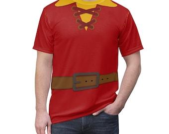 Gaston Beauty & The Beast Villain Unisex All Over Print Running Costume Shirt