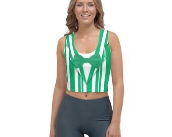 Dapper Dan Green Quartet Singer All-Over Running Costume Women's Sport Crop Top