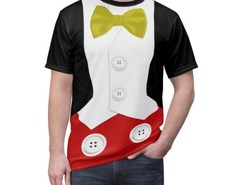 Mickey Tuxedo Unisex All Over Print Running Costume Shirt