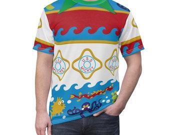 Castaway Mickey Cay Cruise Unisex All Over Print Running Costume Shirt