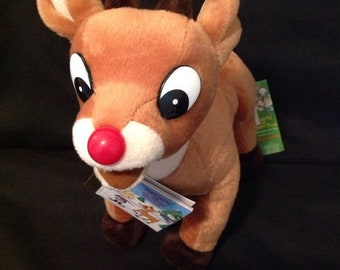Rudolph the Red Nosed Reindeer Kids House Slippers Medium NWT Size 13