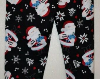 Christmas Leggings Pajamas Santa Claus Ladies Women Size XS S M L XL