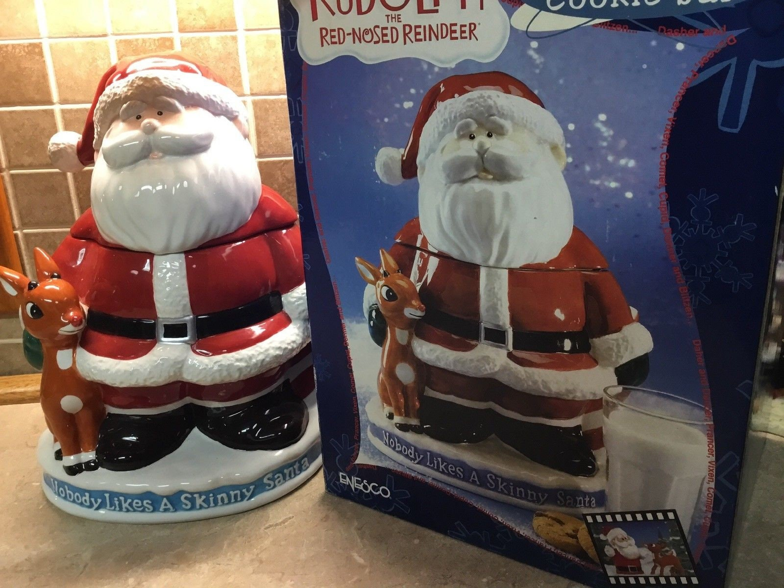 Rudolph The Red Nosed Reindeer Skinny Santa Claus In Regular Clothes Ornament