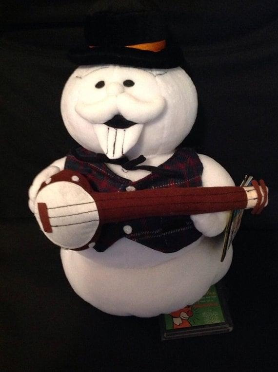 Rudolph Stuffins Island of Misfit Toys SAM THE SNOWMAN Plush 1998.