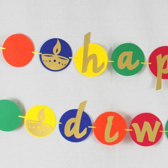 Paillettes Gâteau Topper Happy Diwali Hindu Fêtes religieuses Parti Argent Or