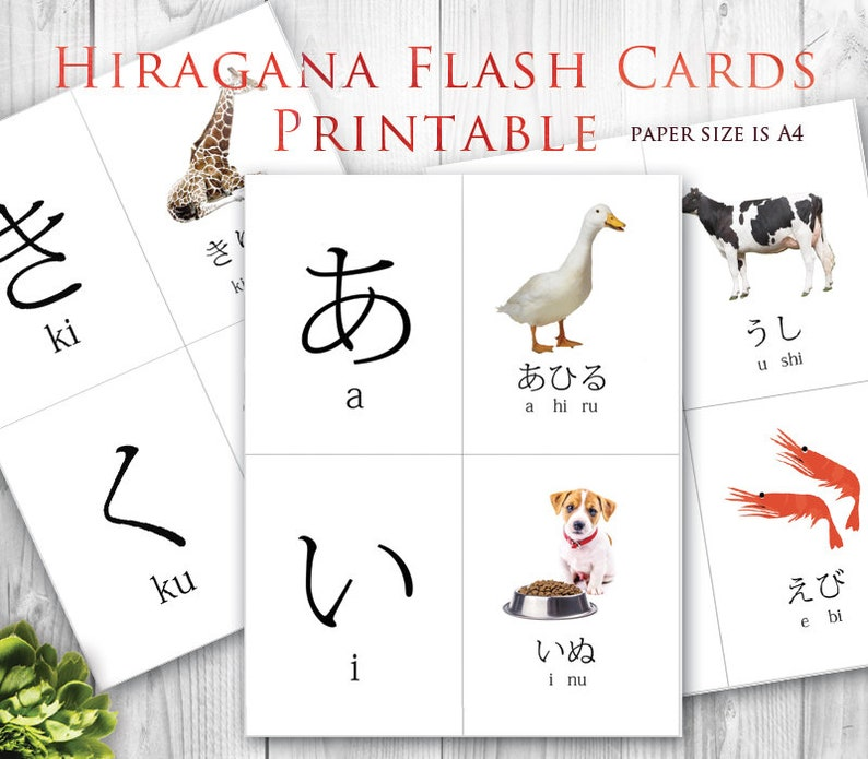 photo about Hiragana Flash Cards Printable referred to as Hiragana Flash Card, Study Jap for Novice - Electronic Down load - PDF documents