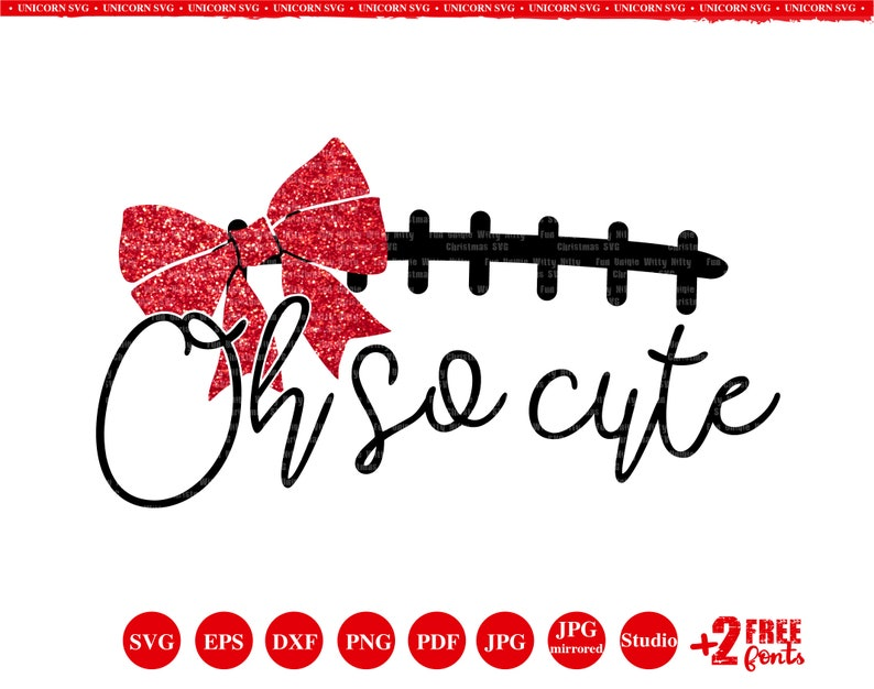 Oh So Cute Football Svg Christmas Svg Iron On Transfer Bow Etsy