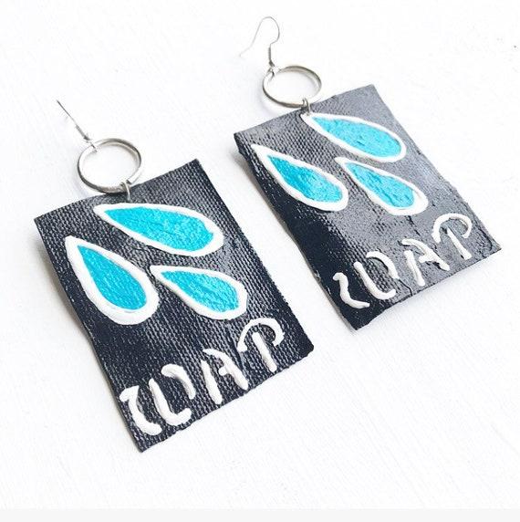 WAP Canvas Earrings