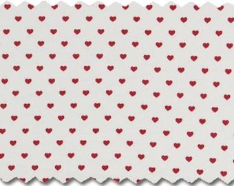 KBA Poplin fine hearts, white-red