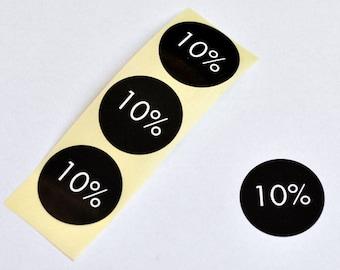 10% Discount Sticker (10pcs)