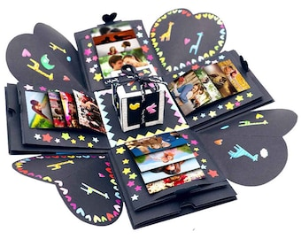 Creative Explosion Gift Box DIY Scrapbook Photo Album With Accessories Valentines Day Birthday Wedding
