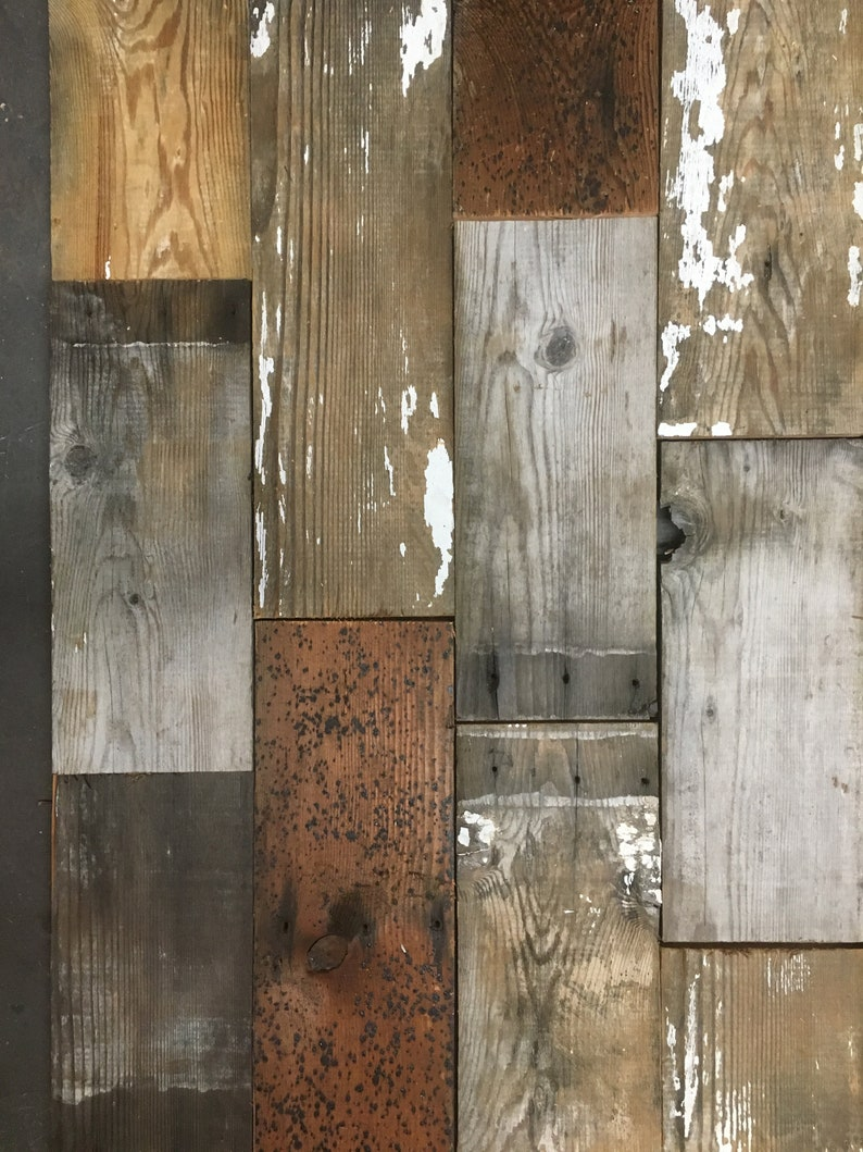 Authentic Shabby Wall Decor Rustic Multi-color Grey Farmhouse SHIPLAP