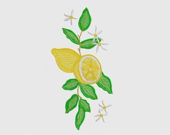 Lemon Tree, Machine Embroidery Design, 4 sizes