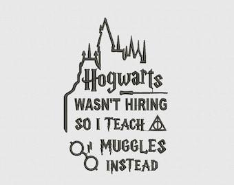 Harry Potter Book Art Hogwarts I teach muggles | Etsy