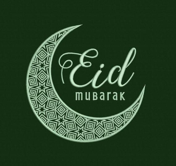 Eid Mubarak Machine Embroidery Design 3 Sizes Etsy