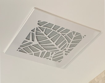 Modern, Retro Designed, Magnetic, Replacement Designer A/C Vent Cover, The CleanVent Tropical Pattern Design