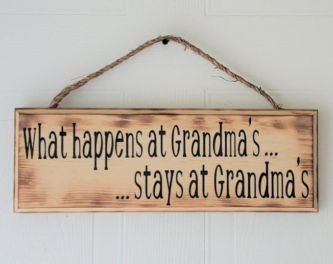 What Happens at Grandmas Stays at Grandmas - Mother's Day Gift - Gift for Mom - Gift for Grandmother - Grandma