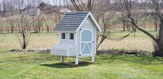 The Cottage Coop Chicken Coop Outside Pet House Hen Etsy