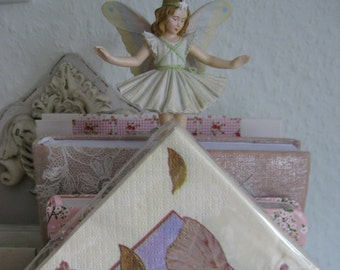 Vintage Floral Fairy Figurine + Napkins - Cicely Mary Barker Flower Fairy Christmas Tree Flower Collectibles