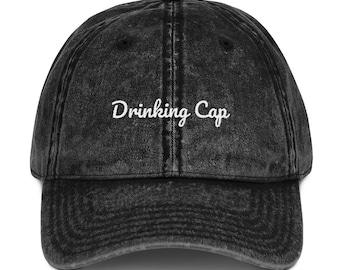 Drinking Cap Vintage Cotton Twill Cap