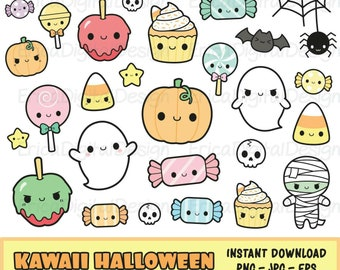 50% SALE HALLOWEEN clipart cute halloween clipart kawaii
