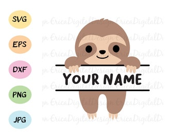 Sloth Images Cartoon Etsy
