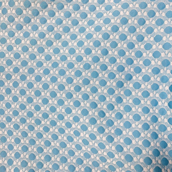 Blue and White 60s Maxi Dress with Polka Dots - image 8