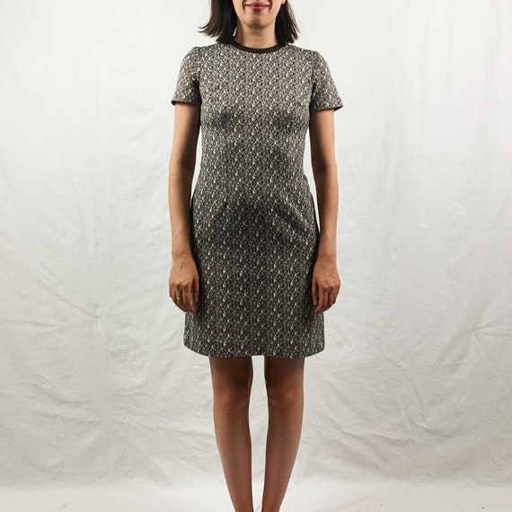 Brown and White 60s Mod Dress