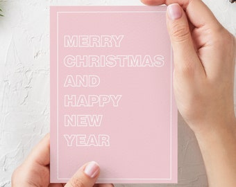 A5 Helvetica pastel Christmas cards