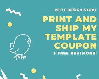 Print and ship my template coupon