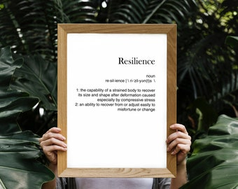 Resilience - Vocabulary printable - Word Poster - Parole sul muro - Typography - Digital Print - Different formats
