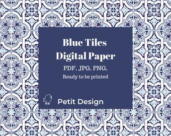 Azulejos tiles digital paper